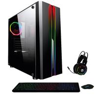 Pc Gamer Amd A8 Cpu 3.8ghz 8GB, Placa De Vídeo Amd Radeon Rx 550, SSD e HD 2TB, Kit Gamer Skill Casual